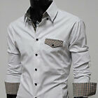Mens casual premium slim fit style shite dress shirts