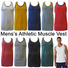 2 TONE TRIM MENS MUSCLE SLEEVELESS ATHLETIC GYM PLAIN VEST TANK TOP RACER BACK