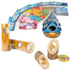 Hamster Gerbil Mouse Play N Chew + Bamboo & Wooden Hide Exercise