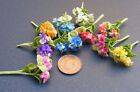 1:12 Bunch Of 2 Dolls House Miniature Polymer Clay Hydrangea Flowers Accessory