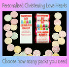 Personalised Mini Love Hearts Christening/Naming Day