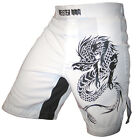 DRAGON HYBRID FLEX BOARD SHORTS - MEISTER MMA Fight Train Boxing S M L XL WHITE