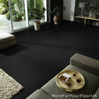 Plain Black Vinyl Flooring - Anti Slip Quality Lino, 2m