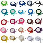 "25 Yards 1/4"" 6mm Satin Ribbon Wedding Bow Color U Pick"