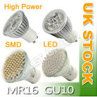12xGU10/MR16 21/38/48/60/80/3W LED BULBS DAY/WARM WHITE