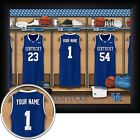 NCAA Personalized Basketball 11x14 FRAMED Locker Room Print 8 TEAMS - NEW