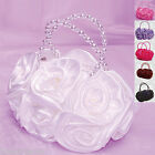 Girl Bag Satin Evening Wedding Flower girl Bridesmaid Party Occasion Handbag 001