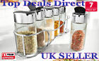 Spice Jar Set Container Holder 7 Piece Glass With Shaker BNIB Great in Kitchen