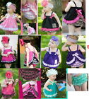 Free Shipping Girl Baby Ruffle Top Dress+Pants Set 0-3Y New Bloomers Nappy Cover