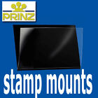Prinz Stamp Mount Strips - Standard top opening black backed - per 10 - 66mm+