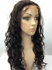full wig Lace Front Wig India Remy Human Hair 2# dark brown body wave wig
