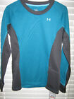 Under Armour Athletic Aqua Green Hundo Map Polyester Cold Weather Shirts