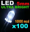 417P# LED Blanc froid 5mm  100pcs -- 10000mcd LED blanche