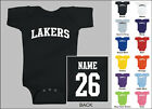 Lakers Baby One Piece, Creeper, Romper Personalized Custom Name & Number