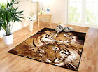 NEW LARGE & EXTRA LARGE ANIMAL TIGER PRINT BROWN BLACK MODERN AREA FLOOR RUG