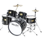 Mendini 5-Pcs Junior Kids Drum Set +Throne, Cymbal ~Black Blue Green Silver Red