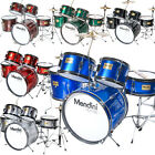 Mendini 5 Pcs Junior Kids Drum Set +Throne Cymbal Black Blue Green Silver Red