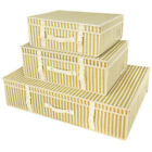 Ivory Gold Wedding Dress Storage Box pH Neutral Travel Carry Case Hangerworld