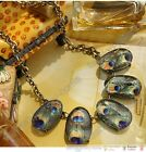 Fashion lampwork glass crystal peacock necklace Chokers