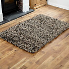 LARGE-MEDIUM 7CM THICK PILE WOOL SHAGGY D GREY COLOUR RUGS