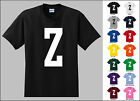 Capital Letter Z Alphabet T-Shirt