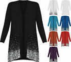 New Plus Size Ladies Sequin Cardigan Long Sleeve Womens Sparkle Top 12-30