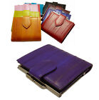 Luxury Genuine Eel skin Leather Wallet Purse Wallet  with coin pocket 10 Colors