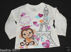 THE CHILDREN'S PLACE Girls Long Sleeve Shirt ( Monkey ) NWT