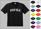 City of Mesa Old English Font Vintage Style Letters T-shirt