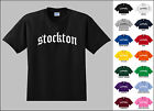 City of Stockton Old English Font Vintage Style Letters T-shirt