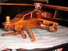 hand made wooden model airplane or helicopter