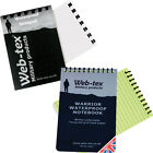 Web-tex 50 x Page A6 Waterproof Notepad Notebook Army Cadets Police Security