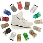 WOMENS LADIES FLAT LACE UP QUILTED HI HIGH TOP PUMPS TRAINERS SHOES SIZE