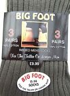 Mens Aler BIG FOOT Large Sized Assorted RIBBED Socks (Size 11-14) -6 OR 12 Pairs