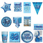 Blue 40th Birthday Party Items Decorations One Listing PS