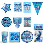 Blue 50th Birthday Party Items Decorations One Listing PS