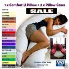 COMFORT U/V PILLOW + 2 PILLOW CASES Maternity/Pregnancy/Nursing/Feeding/Mobility