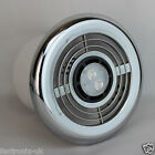 LED Bathroom Shower Extractor Fan - 3.4w Light Kit Chrome Grill Std or Timer 4""
