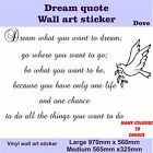 Dream what you want to dream do what you want to do Quote vinyl Wall Art Sticker