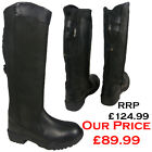 LADIES BLACK EQUESTRIAN RIDING LEATHER WALKING COUNTRY BOOTS SIZE UK 4 5 6 7 8