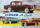 Singer Gazelle 1950's SHOWROOM Picture Print Poster A1 rootes range hillman