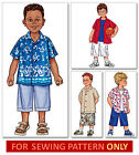SEWING PATTERN! MAKES BOY'S SHIRT~SHORTS! TODDER 2 TO CHILD 8! SUMMER CLOTHES!