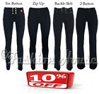 Ladies Girls Black Grey Stretch Hipsters Work Office Smart Trousers Miss Chief