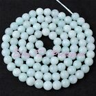 4mm Natural Round Blue Amazonite Gemstone Jewelry Making Spacer Beads Strand 15""