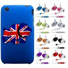 UNION JACK DOG HARD BACK CASE COVER + HANDS FREE HEADSET fOr Apple iPhone 3G 3GS