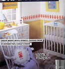 Vtg 80s babies room childs stencil home decor pattern diaper cover