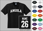 Country Of Angola College Letter Custom Name & Number Personalized T-shirt