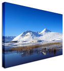 LARGE Wall Art Icy Mountain Canvas Pictures For Home Interiors