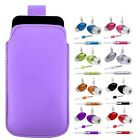 M - LiLAC PULL TAB POUCH CASE COVER + HANDS FREE HEADSET fOr ZTE Orange Rio