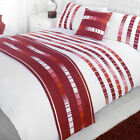 Madison Trinity Red & White Patterned Bed in a  Bag Duvet Quilt Cover Bedding...